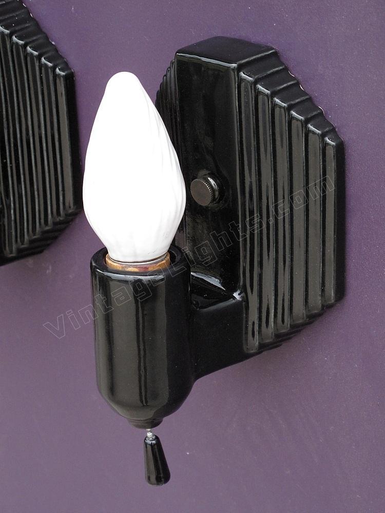 Black bathroom lighting porcelain bathroom sconces for Black sconces for bathroom