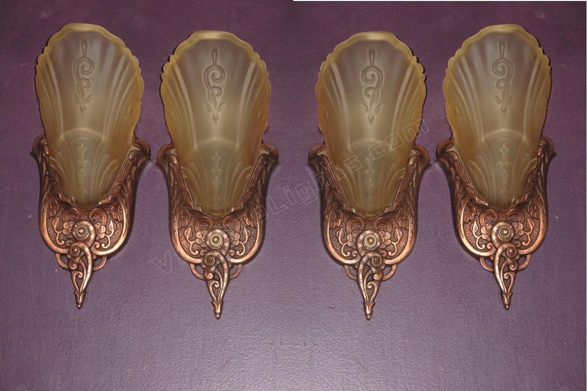 Slip Shade Markel Original Copper Wall Sconce Art Crafts