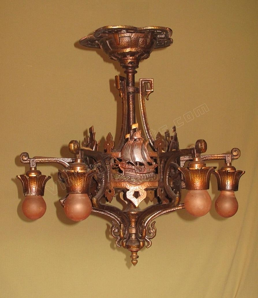 1920s bronze chandelier spanish revival chandeliier item code cei20141207001 price 240000 year 1920 1930 arubaitofo Gallery