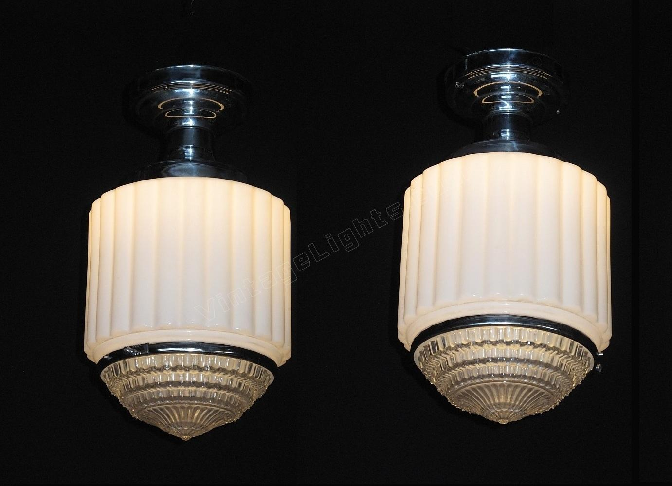 Vintage Schoolhouse Art Deco Lighting Fixtures Antique Kitchen - Antique kitchen light fixtures