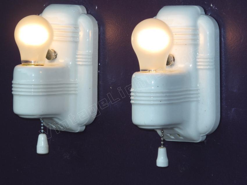 Porcelain Vintage Bathroom Lighitng Fixtures