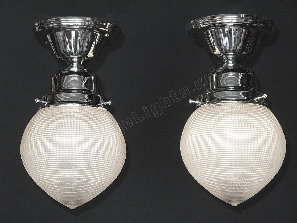 Vintage Holophane Ceiling Lighting Fixtures