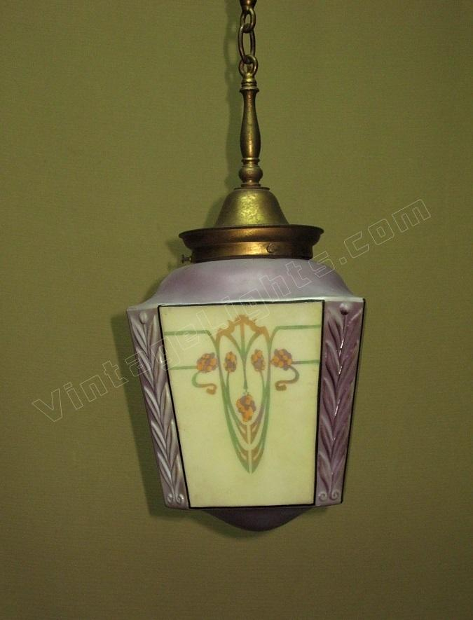 Art nouveau light fixture bellova for Art nouveau lighting fixtures