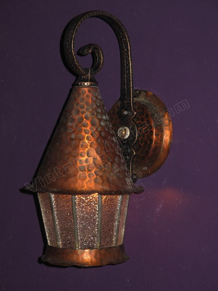 Vintage porch light fixture vintage outdoor fixture for Vintage exterior light fixtures