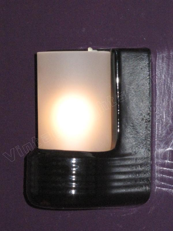 black porcelain vintage bathroom lighting fixture