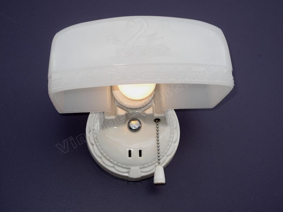 Vintage Kitchen Wall Lights : vintage bathroom wall light antique kitchen lighting Porcelier