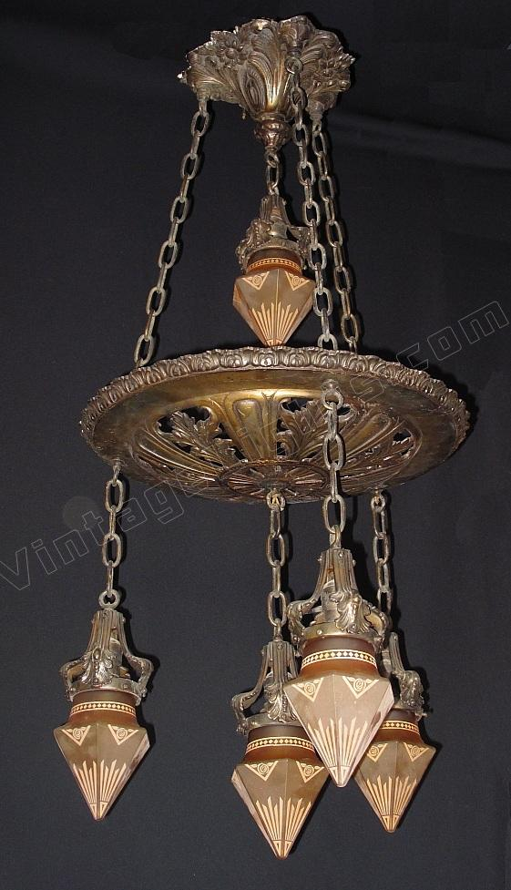 Antique victorian fixture antique art nouveau lighting for Art nouveau lighting fixtures