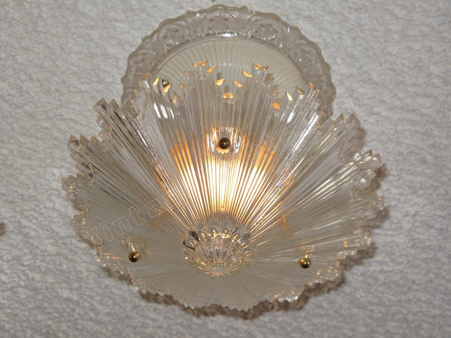 3-Chain Antique Lighting Ceiling Fixture Starburst