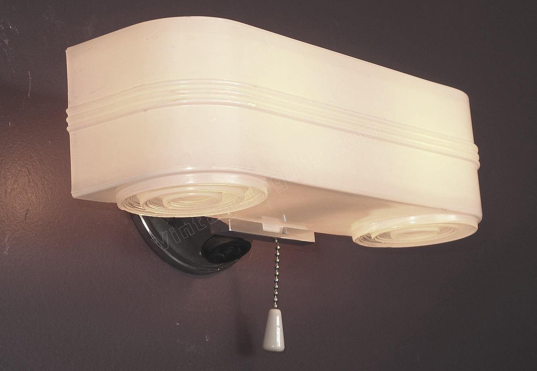 Mid century bath lighting for Mid century bathroom lighting