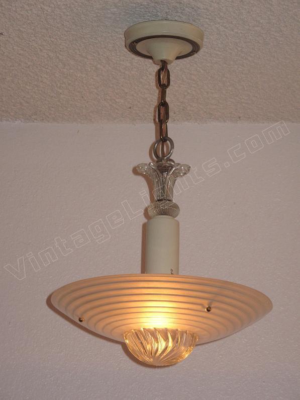 1930s Mid Century Vintage Lighting Fixture