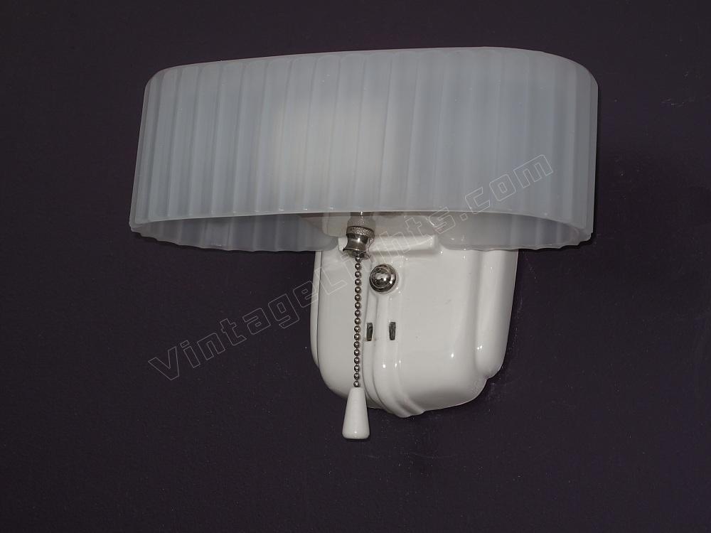 antique white porcelain vintage bath kitchen lighting fixture. Black Bedroom Furniture Sets. Home Design Ideas