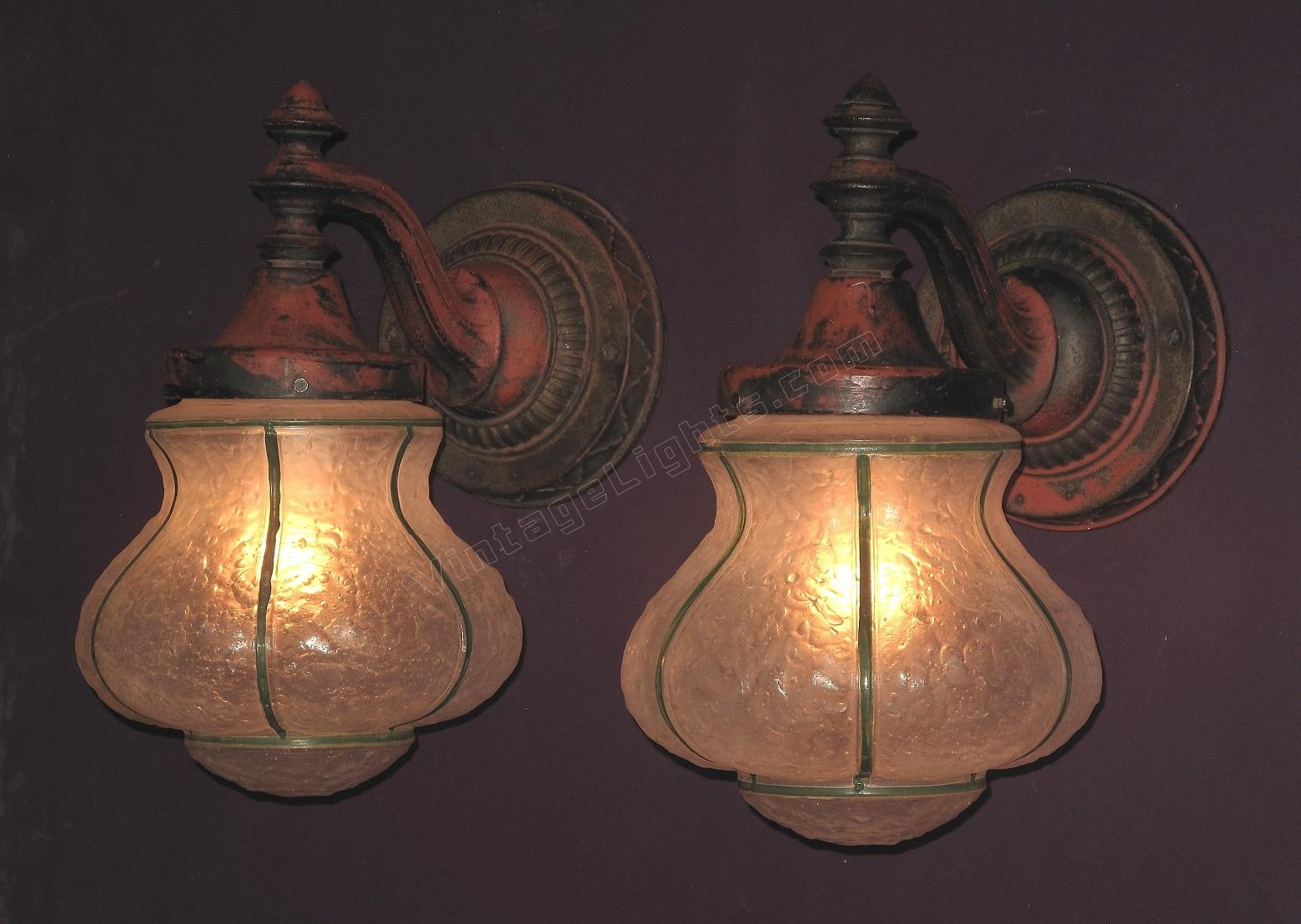 Antique porch lights antqiue cast iron outdoor lights aloadofball Image collections