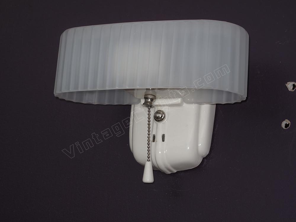 Vintage White Porcelain Antique Bathroom Light Fixture