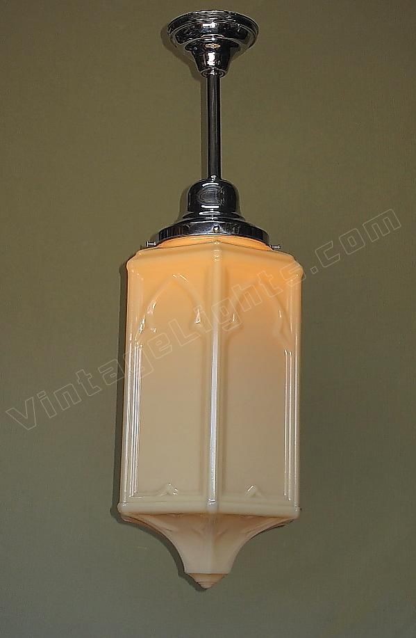 Vintage Custard Glass Fixture Old Church Lighting Fixtures - Church lighting fixtures