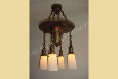 arts crafts antique light fixture craftsman lighting