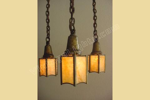 Hammered Lighting Fixture Vintage