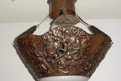 arts crafts lighting hammered copper craftsman copper