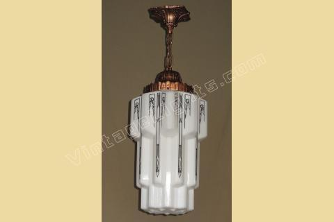 antique art deco lighting fixture | vintage deco fixtures | antique ...