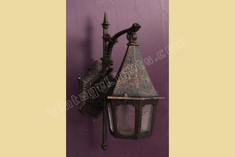 Vintage Tudor Porch Light Fixture In The Storybook Style