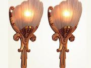 2 Pair Regal 1930s Deco Sconces