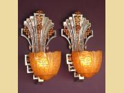 3 Pair Early 30s Very Deco Sconces Priced per Pair