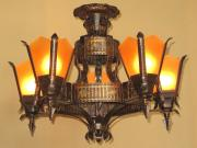 Revival Style Semi Flush Ceiling Fixture 1920s