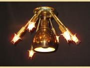 Mid Century Semi Flush 7 Light fixture. 3 available
