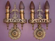 Bronze 1920s Revival Style Sconces