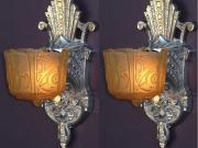 Polished Aluminum Art Deco Sconce priced per pair