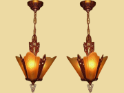 3 Shade Vintage Ceiling Fixture 2 available priced each