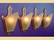 Only 2 left. Vintage Matching Moe Bridges Wall Lighting Sconces c.1920s