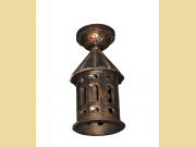 Cast Iron Semi-Flush Mount Porch, Entry, or Hallway Fixture
