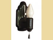 Single Only Black Porcelain Wall Sconce