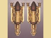 Pair European Inspired Single Bulb Wall Sconces 2 pair available
