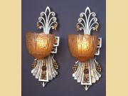 Very Very Deco Vintage Wall Sconces by Lincoln