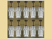 Set of 10 Matching Deco Skyscraper Fixtures